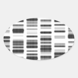 Impresión de la DNA - Pegatina Ovalada