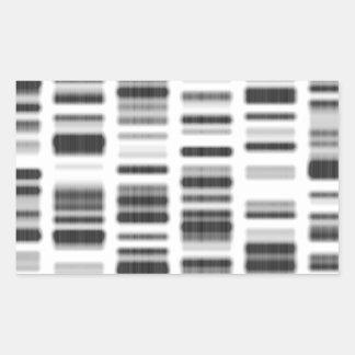 Impresión de la DNA - Pegatina Rectangular