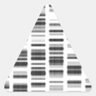 Impresión de la DNA - Pegatina Triangular