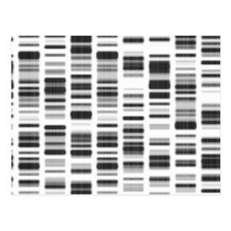 Impresión de la DNA - Postal