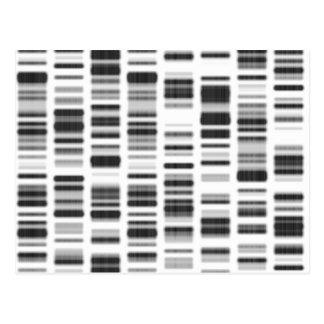 Impresión de la DNA - Tarjeta Postal