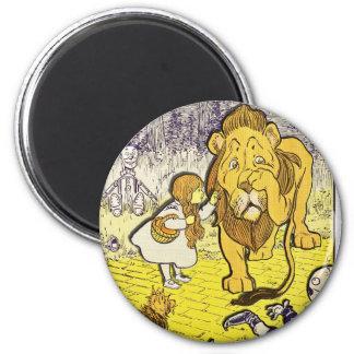 Impresión de la edición de mago de Oz del vintage  Imán Redondo 5 Cm