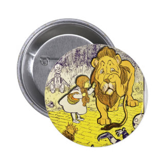 Impresión de la edición de mago de Oz del vintage Pin Redondo De 2 Pulgadas