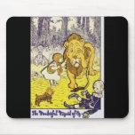 Impresión de la edición de mago de Oz del vintage  Tapetes De Ratones