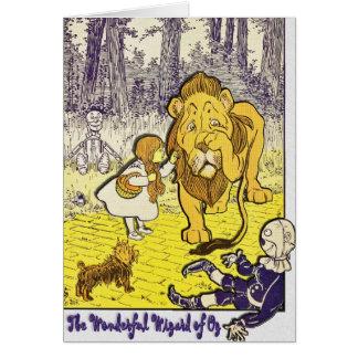 Impresión de la edición de mago de Oz del vintage Tarjeta De Felicitación