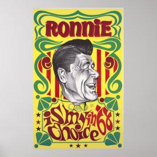 Impresión de la elección del vintage de Ronald Póster