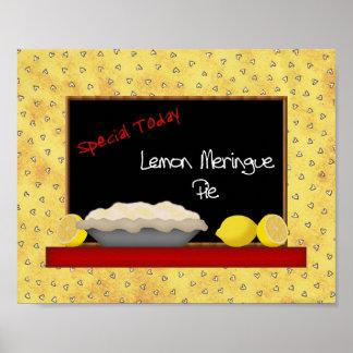 Impresión de la empanada de merengue de limón