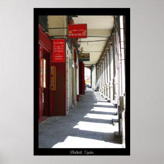 Impresión de la escena de la calle de Madrid Posters