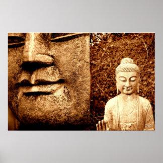 impresión de la estatua de Buda Póster