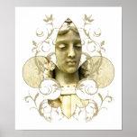 Impresión de la estatua del ángel de Fleur Póster