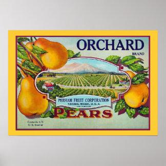 Impresión de la etiqueta del cajón de la fruta de  impresiones