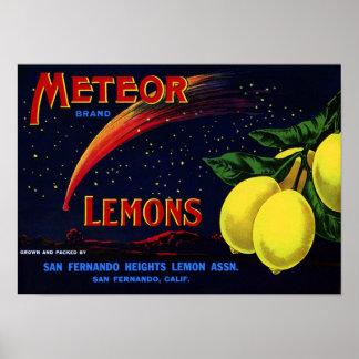 Impresión de la etiqueta del cajón de la fruta del poster