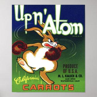 Impresión de la etiqueta del cajón de la zanahoria impresiones