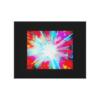 Impresión de la explosión de la luz lona envuelta para galerias