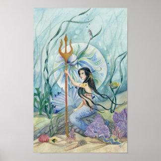 Impresión de la fantasía de la sirena de los reina impresiones