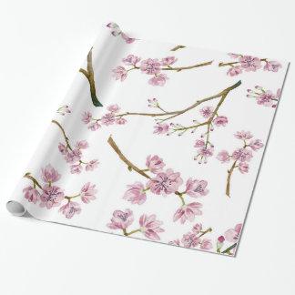 Impresión de la flor de cerezo de Sakura Papel De Regalo
