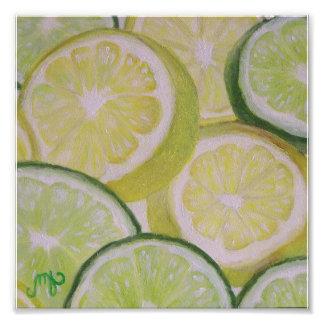 """"""" impresión de la foto 8x8 - rebanadas del limón y"""
