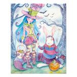 """Impresión de la foto de """"Alicia y del Halloween Cojinete"""
