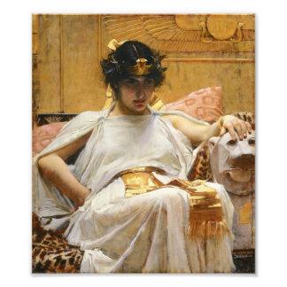 Impresión de la foto de Cleopatra del Waterhouse Cojinete