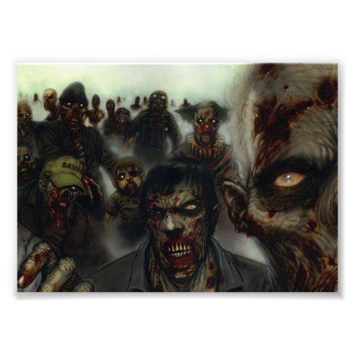 Impresión de la foto de Halloween de los zombis