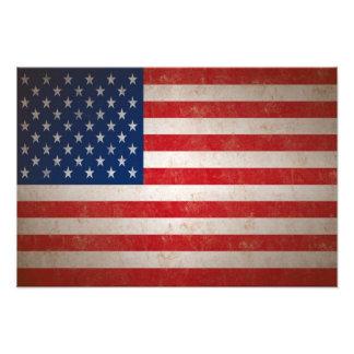 Impresión de la foto de la bandera americana del e fotografías