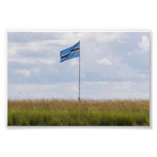 Impresión de la foto de la bandera de Botswana Fotografía