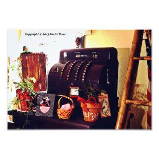Impresión de la foto de la caja registradora fotografía