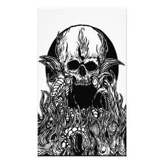 impresión de la foto de la capa del cráneo