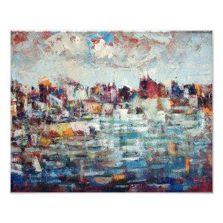 Impresión de la foto de la ciudad de Korcula