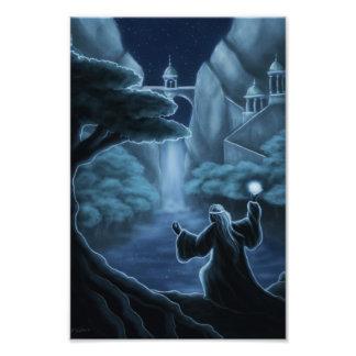 impresión de la foto de la fantasía de las aguas cojinete