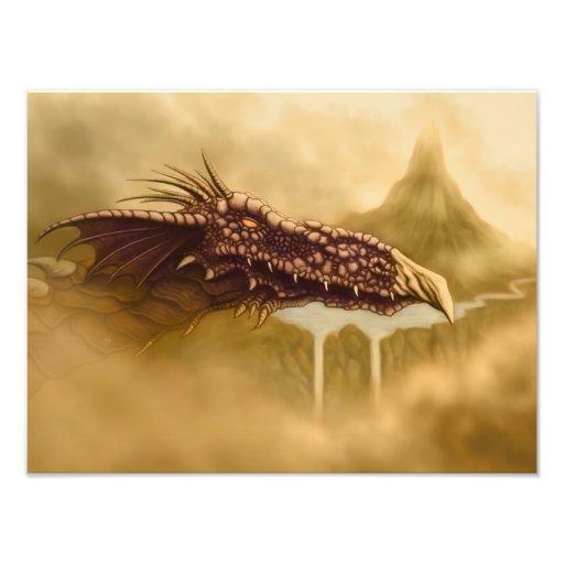 impresión de la foto de la fantasía del dragón de