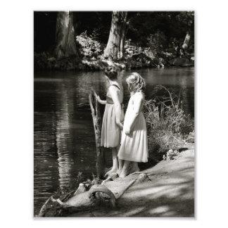 Impresión de la foto de la hermana de la amistad d fotografía
