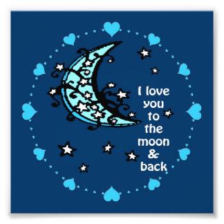 impresión de la foto de la luna azul cojinete