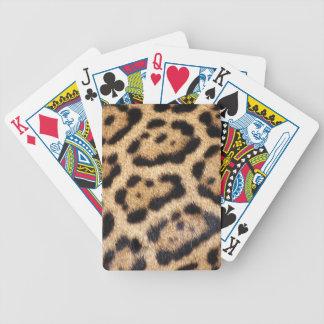 Impresión de la foto de la piel de Jaguar Barajas De Cartas