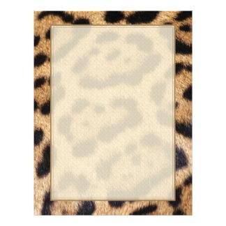 Impresión de la foto de la piel de Jaguar Plantilla De Membrete