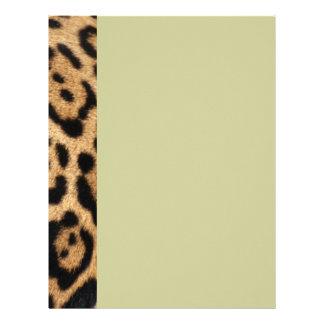 Impresión de la foto de la piel de Jaguar Plantillas De Membrete