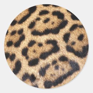 Impresión de la foto de la piel de Jaguar Pegatina Redonda