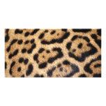 Impresión de la foto de la piel de Jaguar Tarjetas Personales
