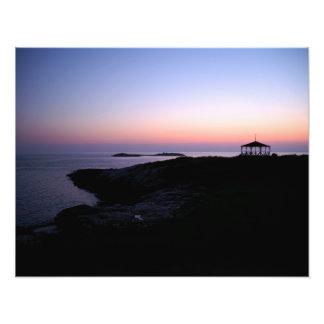 Impresión de la foto de la puesta del sol de la fotografía