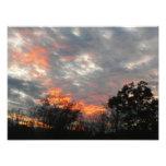 Impresión de la foto de la puesta del sol del invi