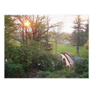 Impresión de la foto de la puesta del sol del puen