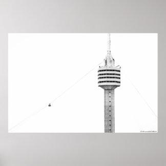 Impresión de la foto de la torre B&W Póster