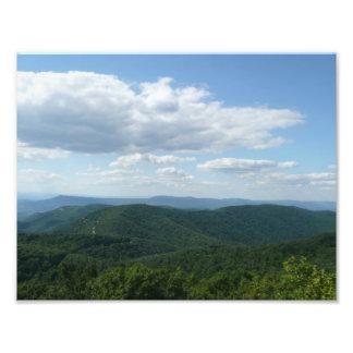 Impresión de la foto de las montañas apalaches