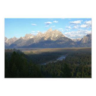 Impresión de la foto de las montañas de Jackson Ho