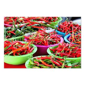 Impresión de la foto de las pimientas del chile pi