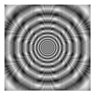 Impresión de la foto de los anillos del gris fotografía