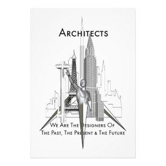 Impresión de la foto de los arquitectos fotografía
