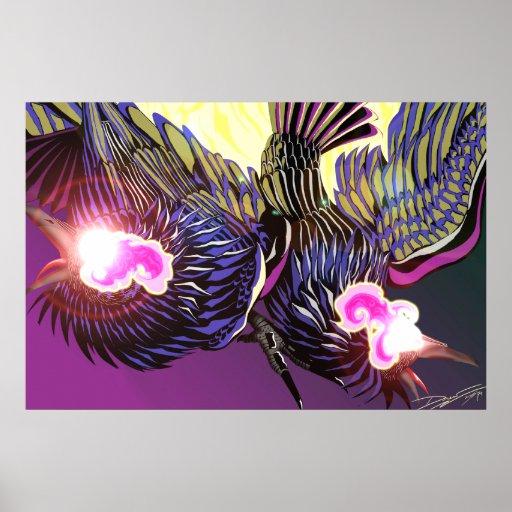 Impresión de la foto de los cuervos de Odin Poster