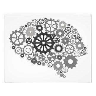 Impresión de la foto de los engranajes del cerebro