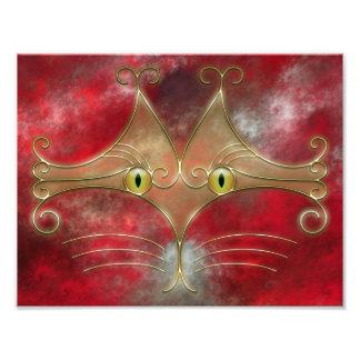 Impresión de la foto de los Gato-Ojos